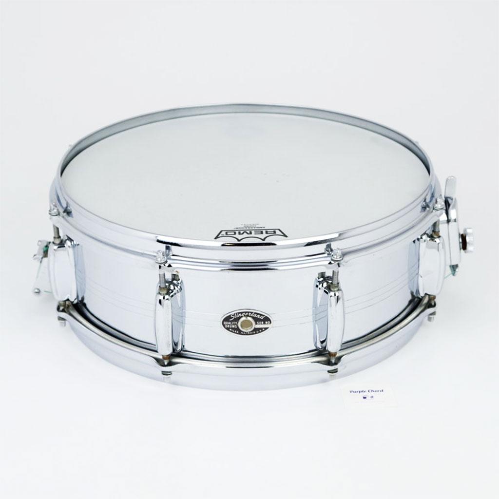 Slingerland Chrome over Brass Snare